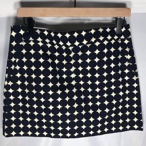 💛 Jcrew navy and white skirt